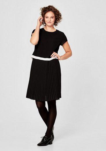 TRIANGLE Crêpe-Kleid mit Plissée-Rock