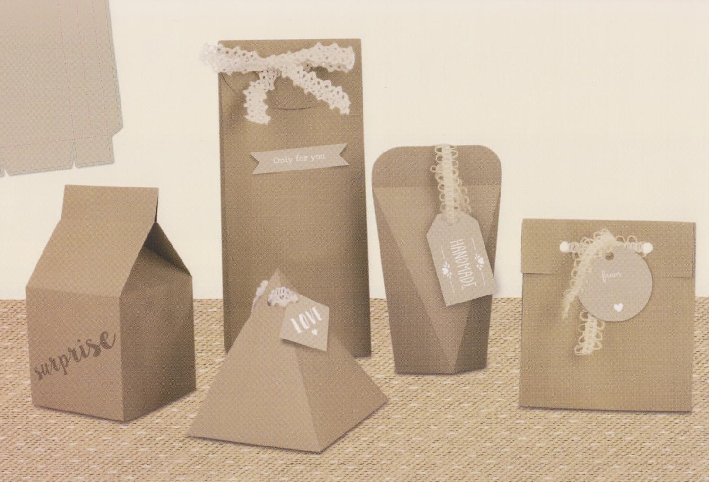 Geschenkschachtel-Set ´´Kraftpapier´´ für 12 Schachteln | Dekoration > Aufbewahrung und Ordnung > Kästchen | Creme