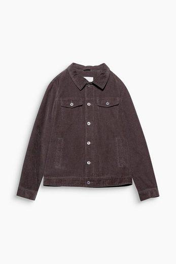 ESPRIT Urbane Jacke aus reinem Baumwoll-Cord