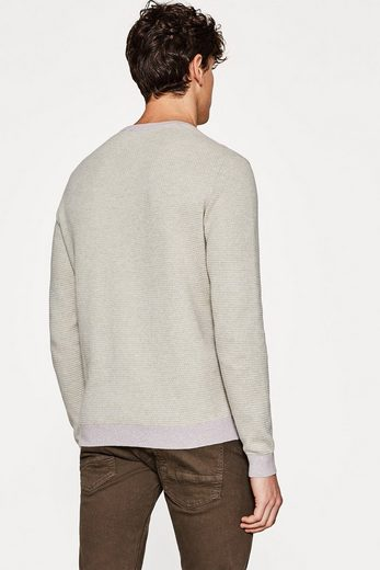 ESPRIT COLLECTION Jacquard-Pullover aus 100% Baumwolle