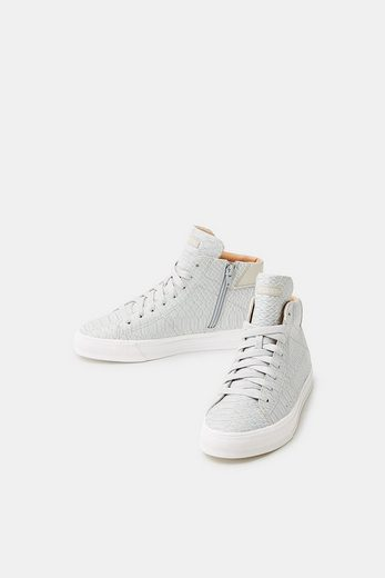 Esprit High-top Sneaker With Reptile Embossing