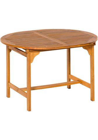 MERXX Sodo stalas Akazienholz išskleidžiamas...