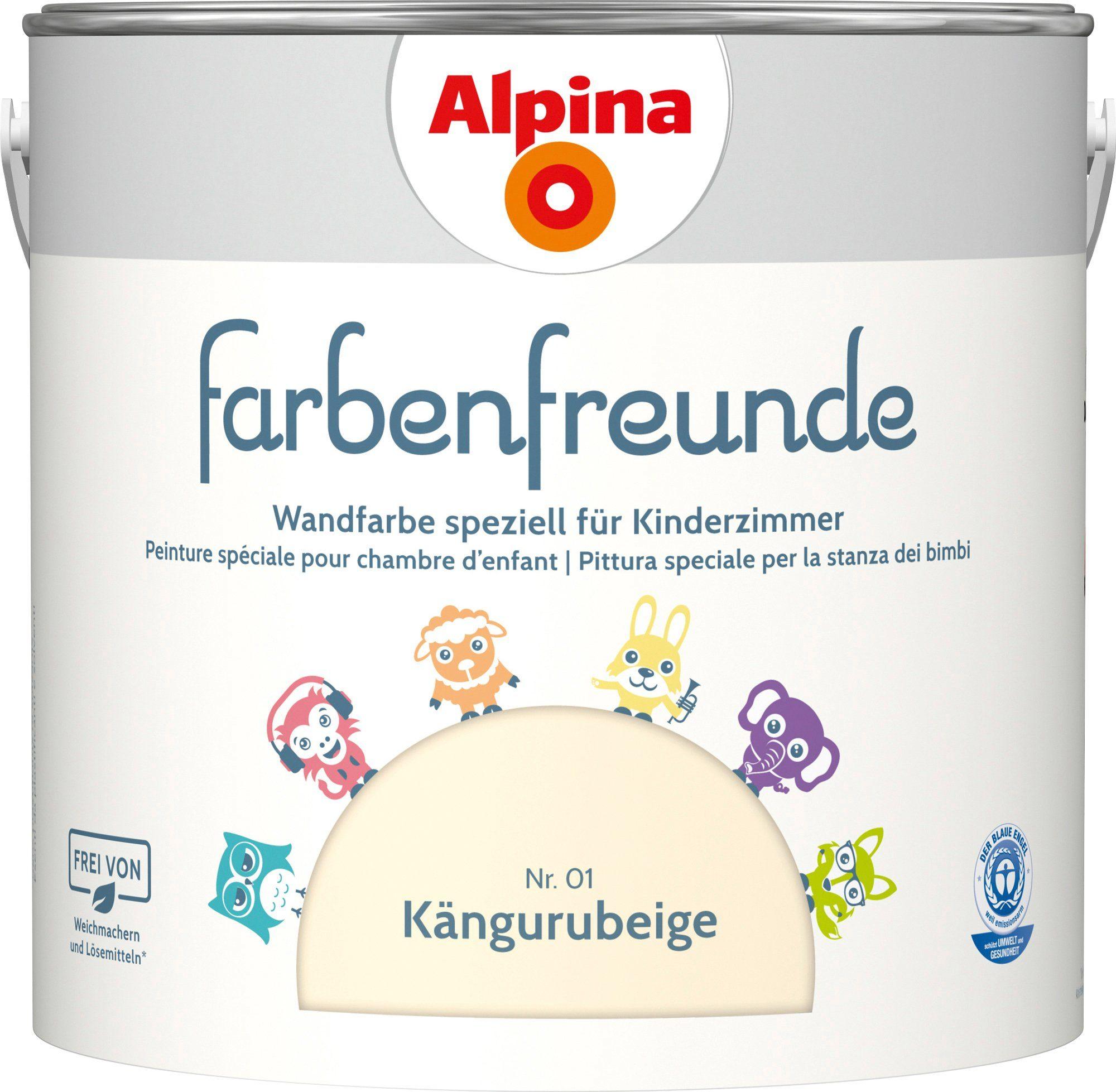 ALPINA Wand- und Deckenfarbe »Farbenfreunde - Kängurubeige (Nr. 01)«, 2,5 l
