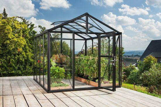 VITAVIA Gewächshaus »Zeus 8100«, BxTxH: 266x324x250 cm, schwarz, ca. 3 mm