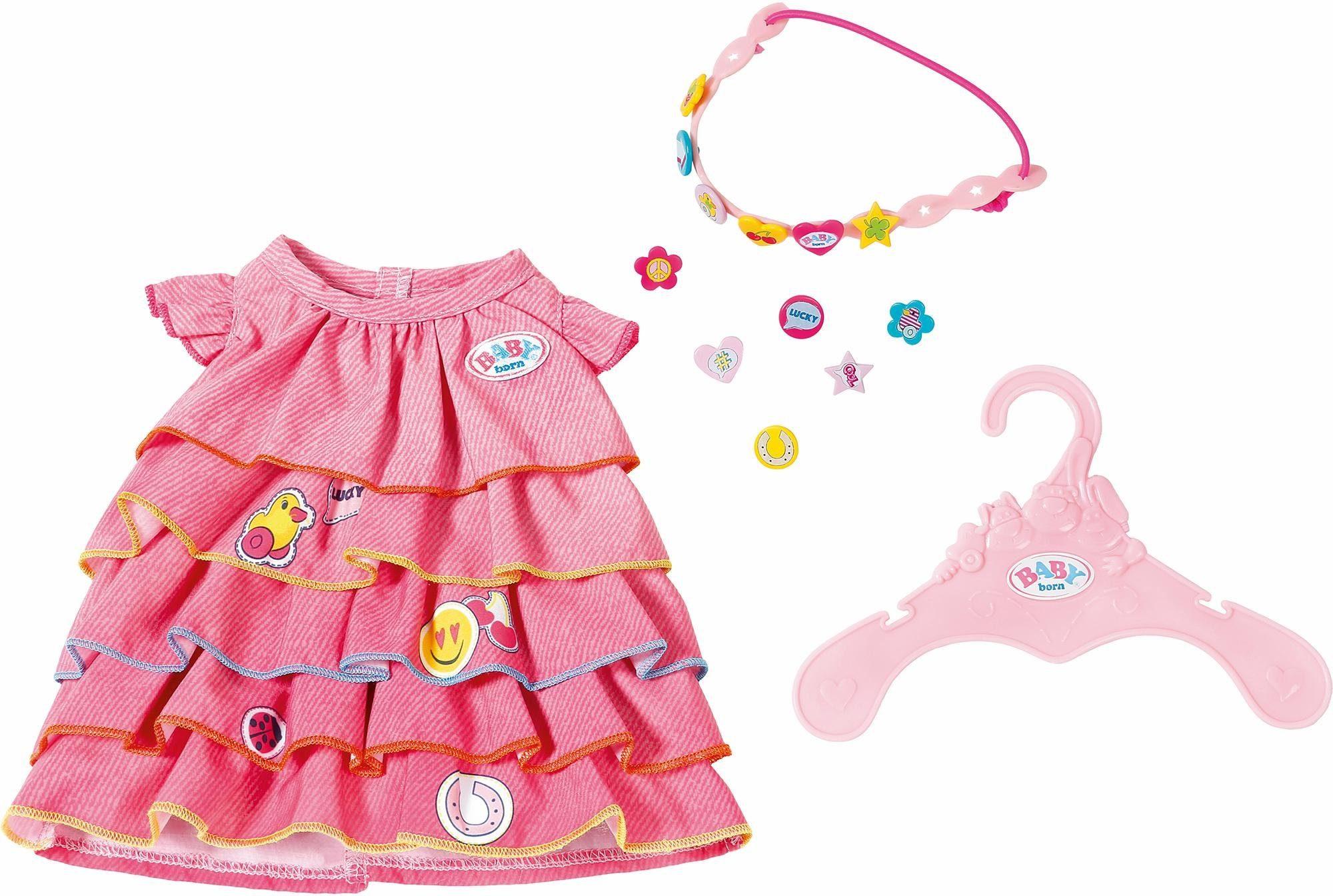 Zapf Creation Puppenkleidung, »BABY born® Sommerkleid Set mit Pins«