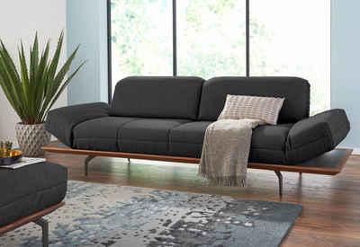 hülsta sofa 4-Sitzer »hs.420«, in 2 Qualitäten, Holzrahmen in Eiche Natur oder Nußbaum