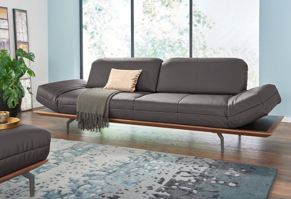 Polstermöbel leder oder stoff  hülsta sofa 3-Sitzer Sofa »hs.420« wahlweise in Stoff oder Leder ...