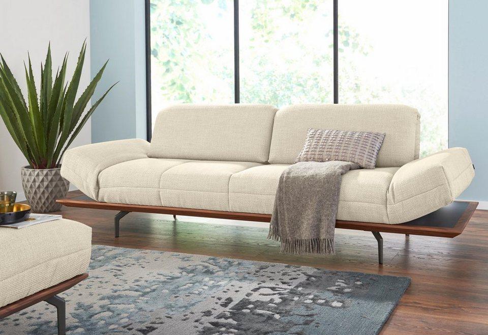 hülsta sofa 3-Sitzer Sofa »hs.420« wahlweise in Stoff oder Leder ...