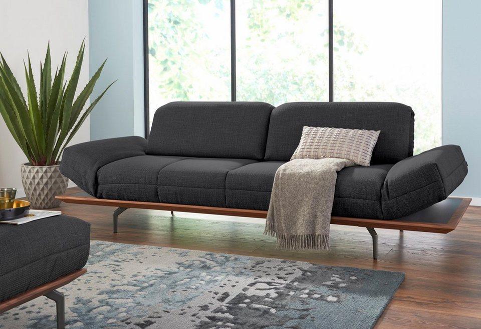 hülsta sofa 3 Sitzer hs 420 in 2 Qualitäten Holzrahmen