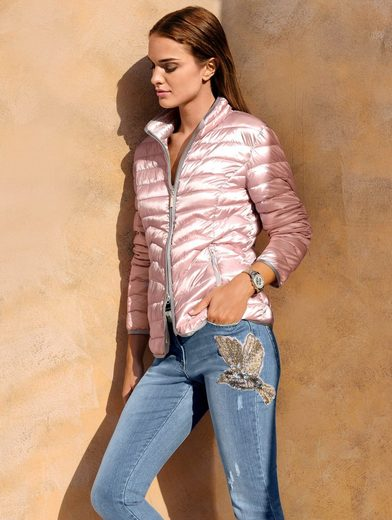 Alba Moda Jacket With Allover Figure Cheap Stitching