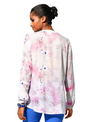Alba Moda Bluse in modischem allover Print
