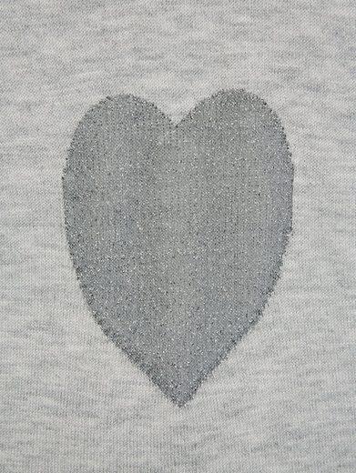 Alba Moda Pullover mit eingestrickten Herzen im Vorderteil