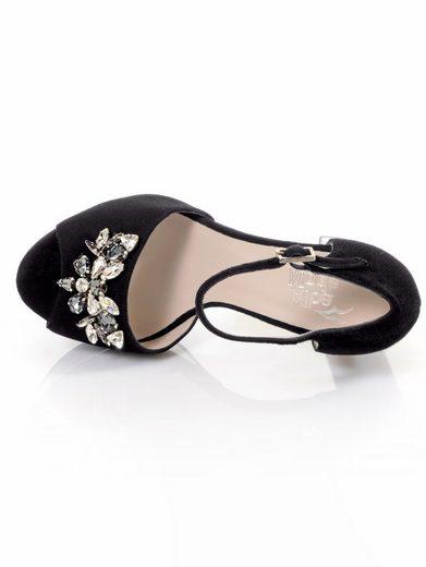 Alba Moda Sandalette mit aufgesetzten Schmucksteinchen