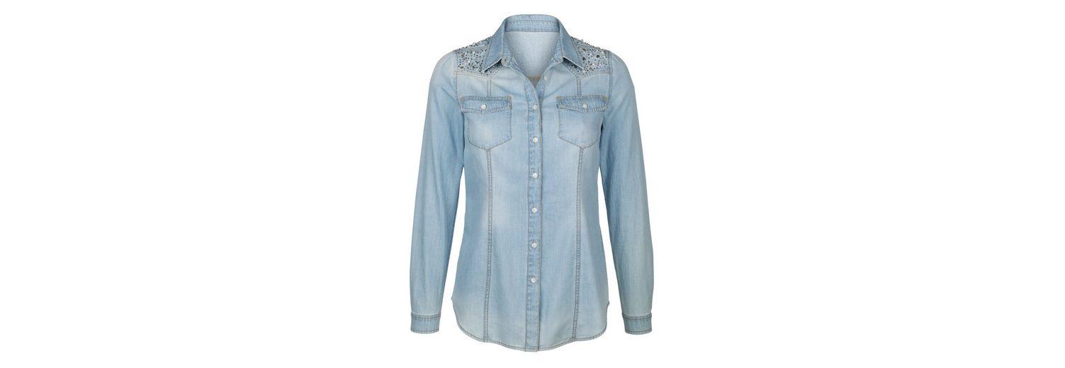 Countdown Paket Online Authentisch Günstig Online Amy Vermont Jeansbluse mit Perlen- und Paillettenstickerei Verkauf 100% Original YmYvgOb