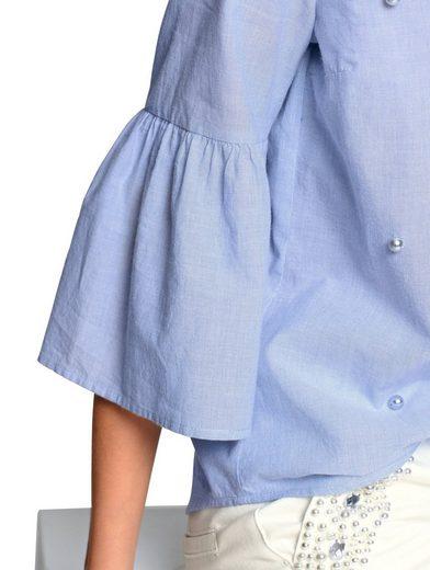 Alba Moda Bluse mit Zierperlen im Vorderteil