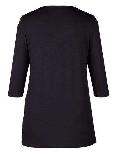 MIAMODA Longshirt mit buntem Grafikdruck