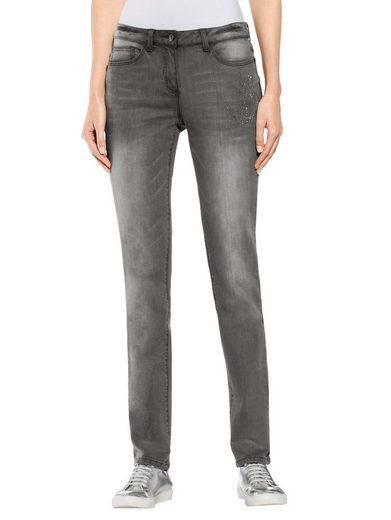 Alba Moda Jeans mit Ankermotiv aus Ziernieten