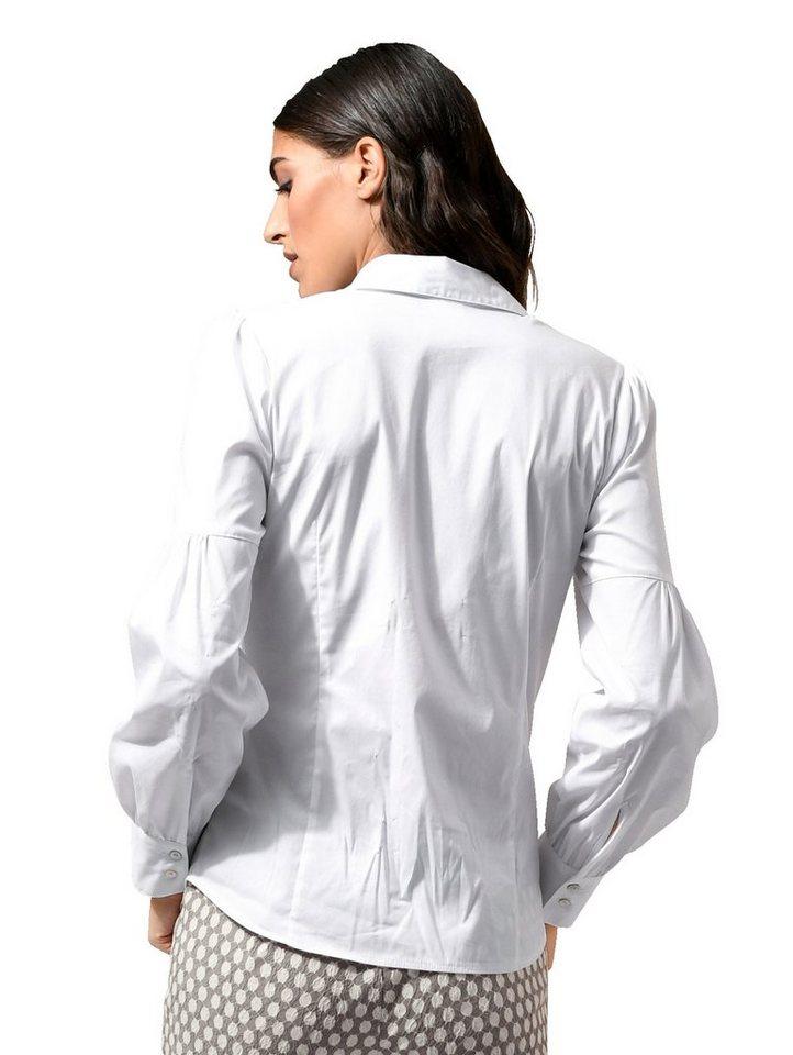 Alba Moda Bluse mit dezenten Keulenärmeln kaufen   OTTO 058ef3c18c