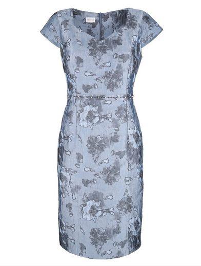 Mona Kleid aus Jacquard mit Cloqué-Effekten