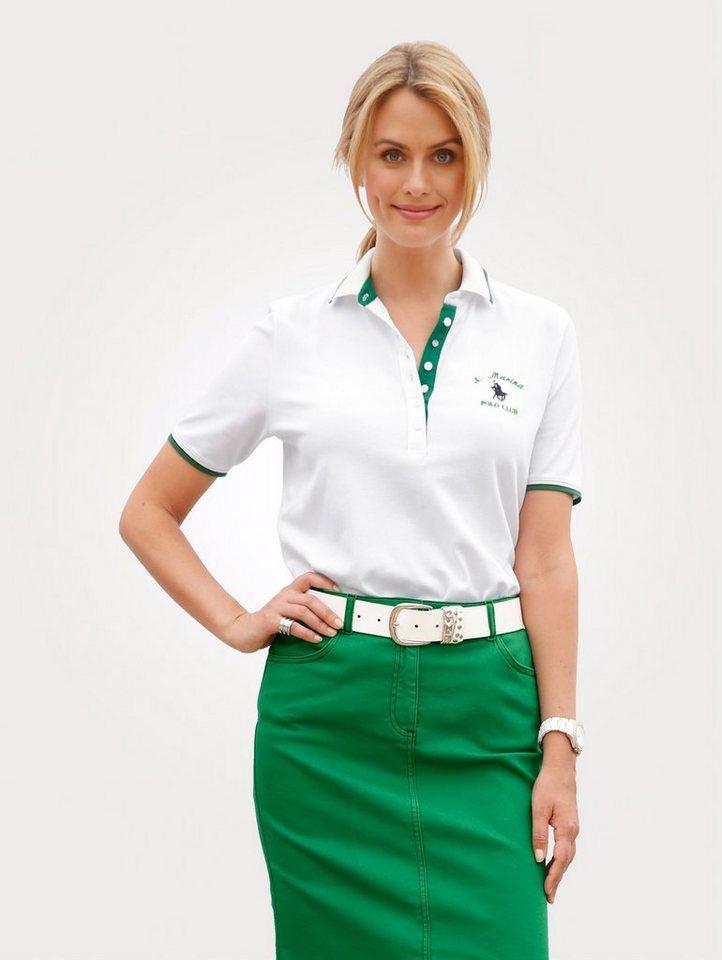Damen Mona Poloshirt in Piquée-Qualität weiß | 04055716404648