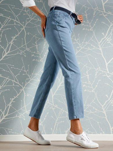 Mona Jeans mit Stickerei