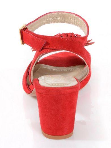 Alba Moda Sandalette aus weichem Ziegenveloursleder