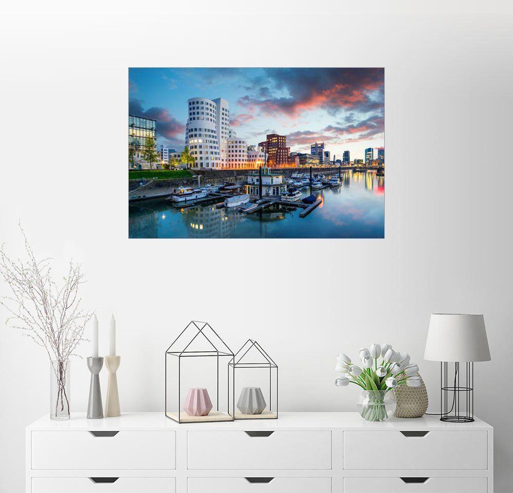 Posterlounge Wandbild - euregiophoto »Düsseldorf Medienhafen«