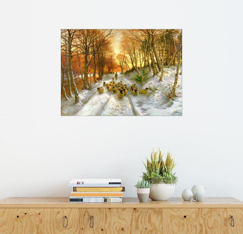 Posterlounge Wandbild - Joseph Farquharson »Glühende Tönungen der Abendstunden« | Dekoration > Bilder und Rahmen > Bilder | Bunt | Posterlounge