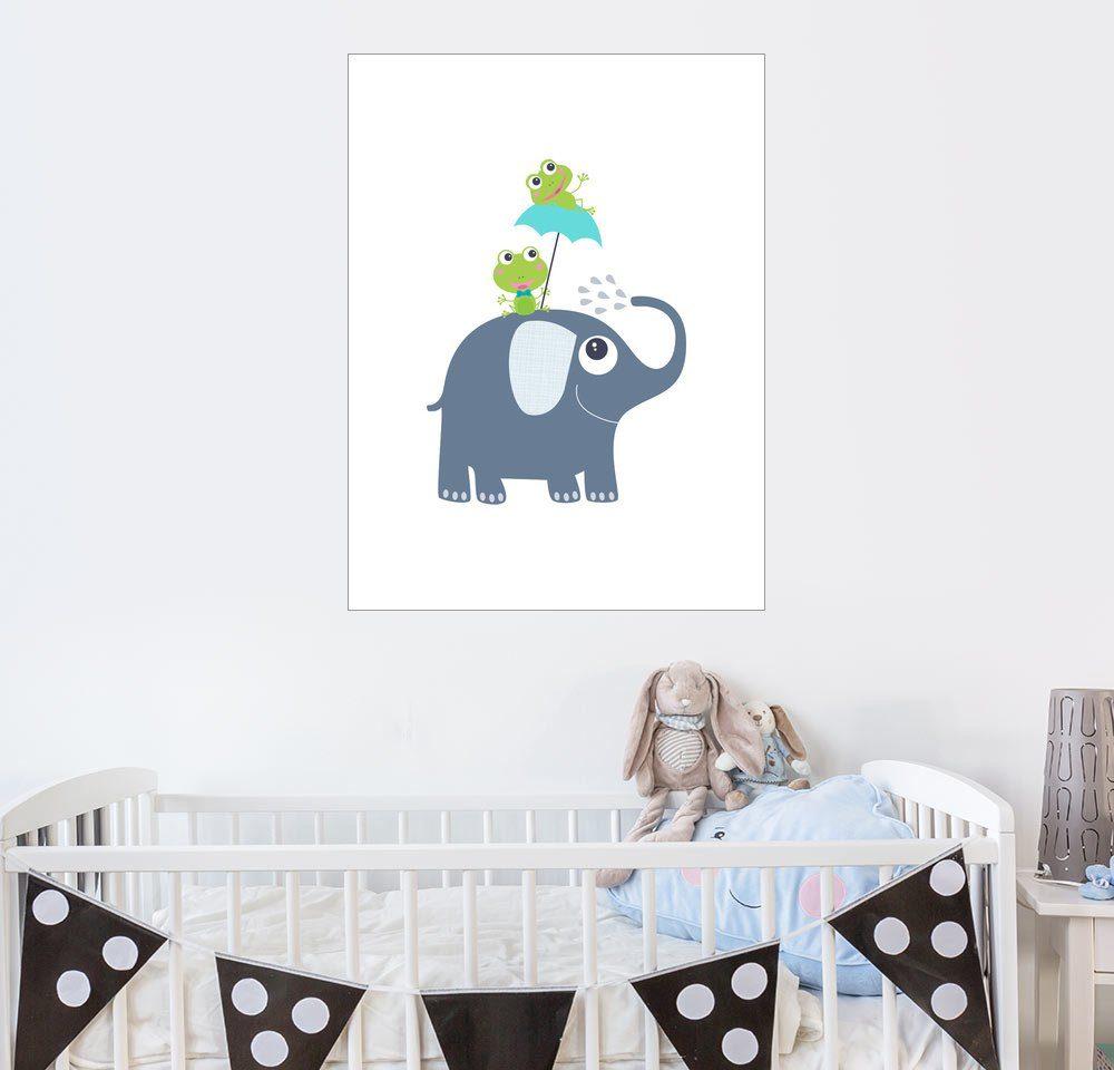 Posterlounge Wandbild - Jaysanstudio »Frösche auf Elefant«