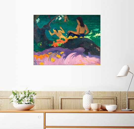 Posterlounge Wandbild - Paul Gauguin »Fatata te miti (Angelehnt ans Meer)«