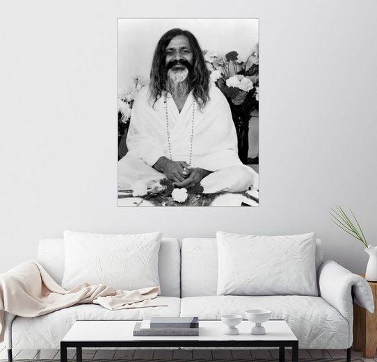 Posterlounge Wandbild »Maharishi Mahesh Yogi«