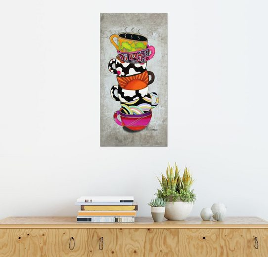 Posterlounge Wandbild - Megan Duncanson »Stacked Hot Cuppa Collection 1«