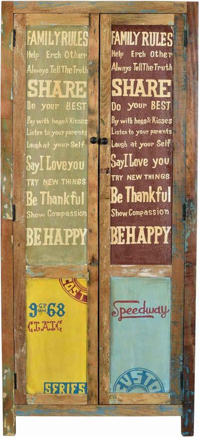 SIT Stauraumschrank »Speedway« aus recyceltem Altholz, Breite 80 cm, Shabby Chic, Vintage