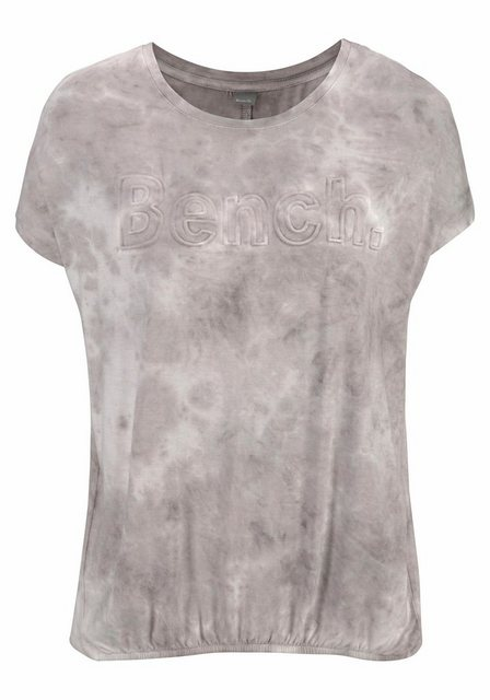 Damen Bench. Shirt mit 3D-Prägedruck grau | 08681161665271