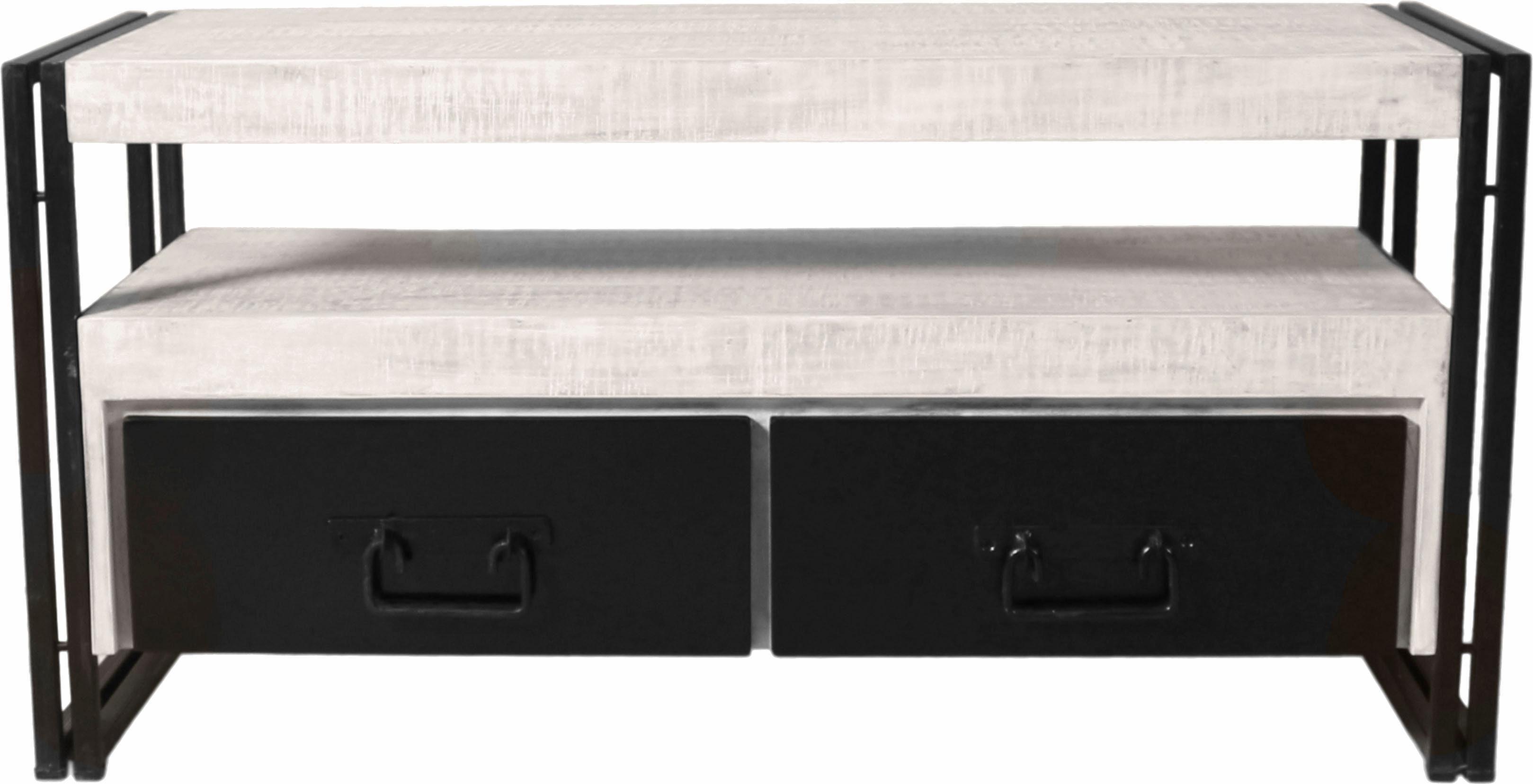 SIT TV-Lowboard »White Panama« im Used Look, Breite 112 cm