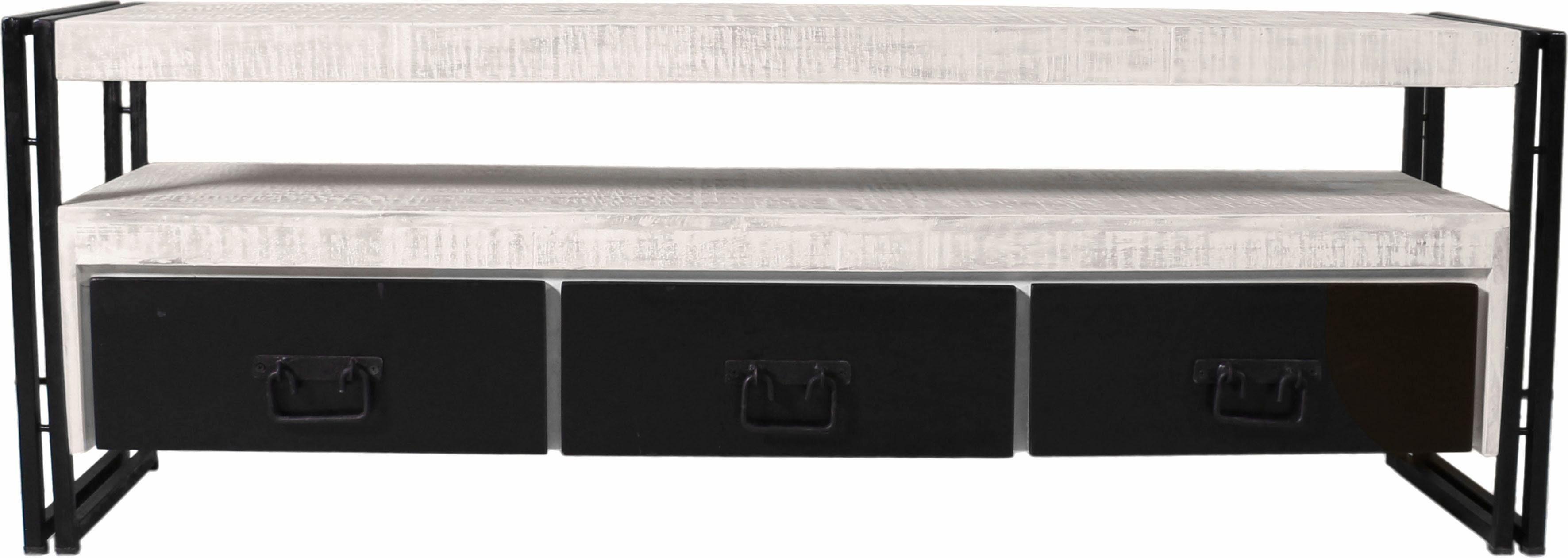SIT TV-Lowboard »White Panama« im Used Look, Breite 160 cm