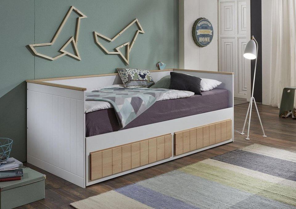 relita funktionsbett timmi ausziehbar mit 2 schubk sten online kaufen otto. Black Bedroom Furniture Sets. Home Design Ideas