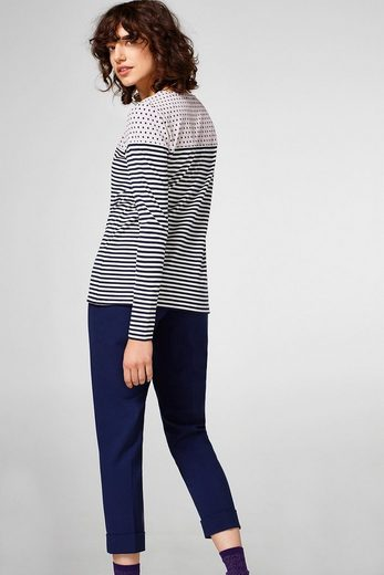 EDC BY ESPRIT Longsleeve im Muster-Mix-Look