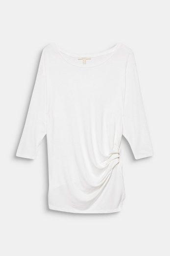 ESPRIT Softes Fledermaus-Shirt mit Raffung