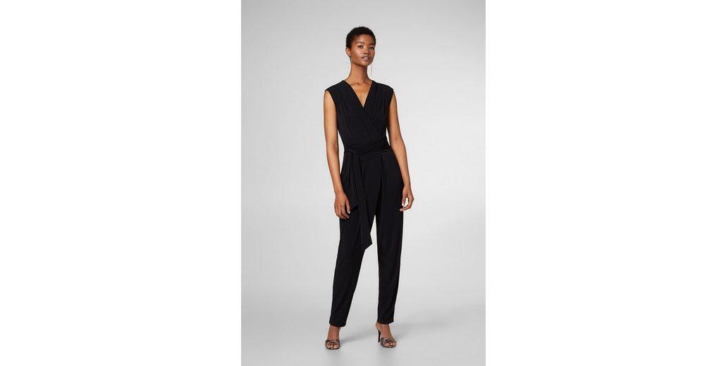 ESPRIT COLLECTION Jersey-Stretch-Jumpsuit im Wickel-Look