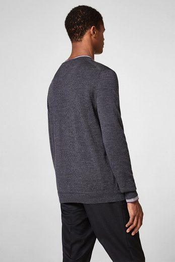 ESPRIT COLLECTION Feinstrick-Pullover aus Merino Wolle
