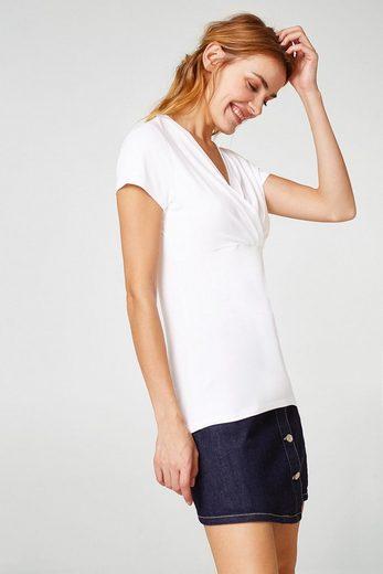 ESPRIT COLLECTION Stretch-Shirt mit femininem Ausschnitt