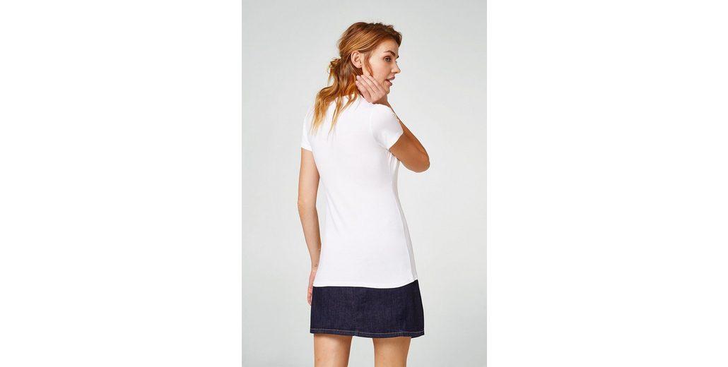 ESPRIT COLLECTION Stretch-Shirt mit femininem Ausschnitt 2018 2018 Unisex Günstiger Preis Neue Stile Günstiger Preis Erstaunlicher Preis Spielraum Kaufen iAExuOxb