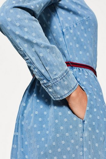 EDC BY ESPRIT Getupftes Baumwoll-Jeans-Kleid