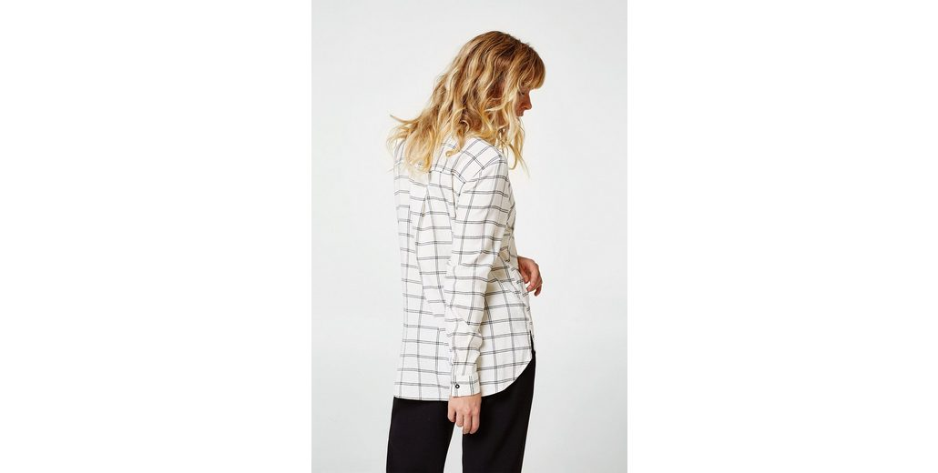 Günstig Kaufen Bequem Freies Verschiffen Billig EDC BY ESPRIT Karo-Bluse aus Organic-Cotton-Mix Günstig Kaufen Original Verkauf Besten Großhandels luEkEzVHW