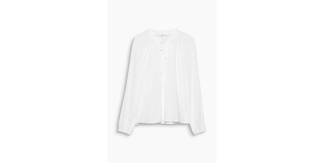 Online Speichern Erhalten Authentische Online EDC BY ESPRIT Fließende Bluse mit Schnürung IDOaW6G