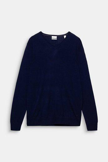 ESPRIT COLLECTION Feinstrick-Pullover aus Merino Wolle