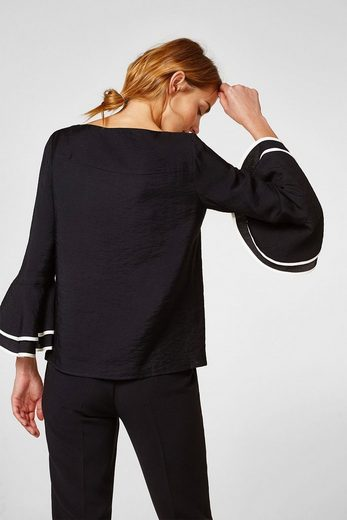 Esprit Boxy Blouse With Volant-sleeved