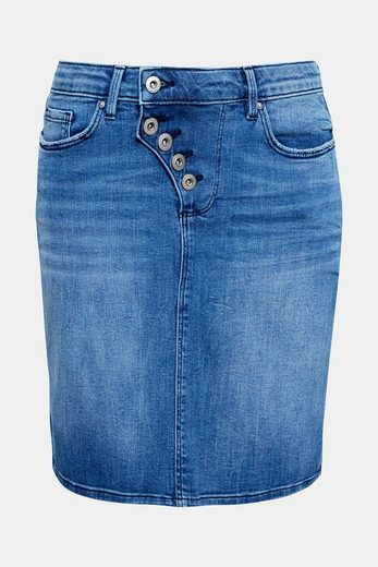 EDC BY ESPRIT Stretch-Jeans-Rock mit Knopfleiste