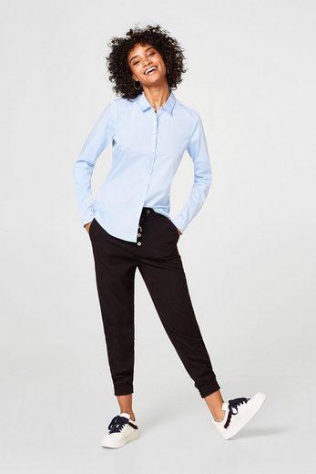 ESPRIT Taillierte Stretch-Bluse aus Baumwoll-Mix